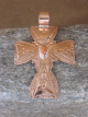 Navajo Indian Jewelry Copper & Spiny Oyster Cross Pendant! Handmade!